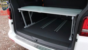 VW T5 California Beach Multiflexboard Videoanleitung Bettverlängerung