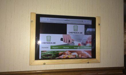 Selbstbauanleitung: Tablet-Halter z.B. fuer die Kueche