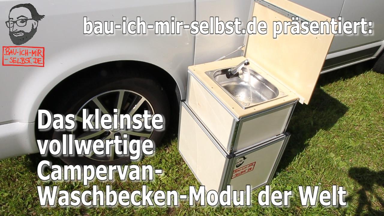 Selbstbau-Anregung: Slide-Out-Waschbecken-Modul fuer den VW T5 / T6 Multivan + California Beach