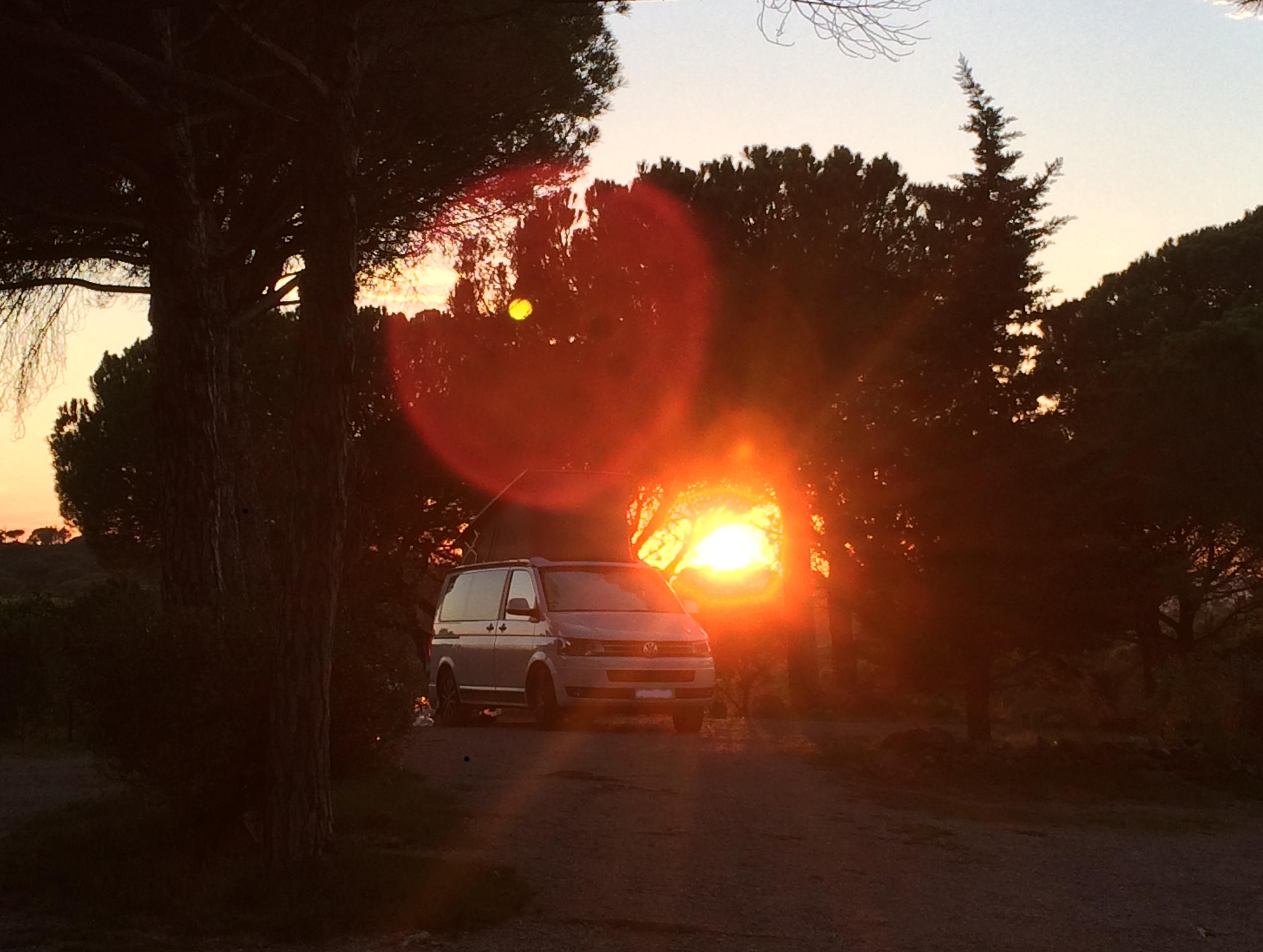 T5 California Edition Camping Frankreich November - Bizanet Lézignan Corbières Carcasonne
