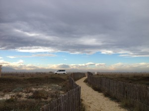 VW T5 California Camping Frankreich November - Mittelmeer Kueste