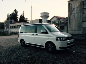 VW T5 California Edition Camping Frankreich November - Aurec-sur-Loire