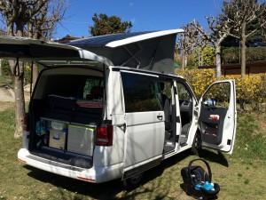 VW T5 California Camping Italien Reisetipps Bericht Campingausstattung Familiencamping