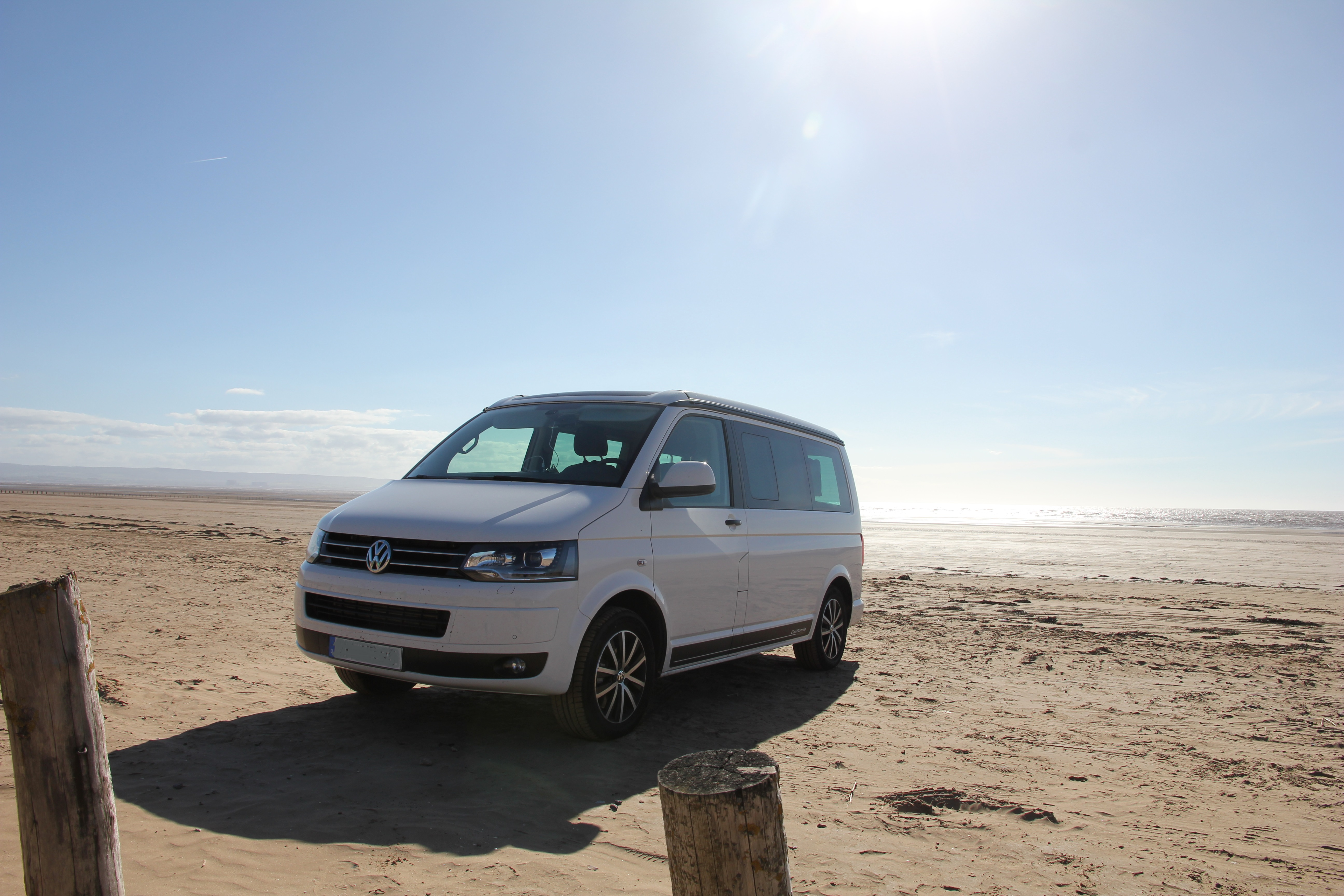 VW T5 T6 California Schottland Roadtrip 2015 Cardiff Beach