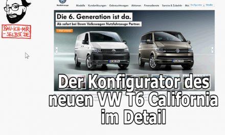 VW T6 California – der Konfigurator komplett im Detail durchgesprochen