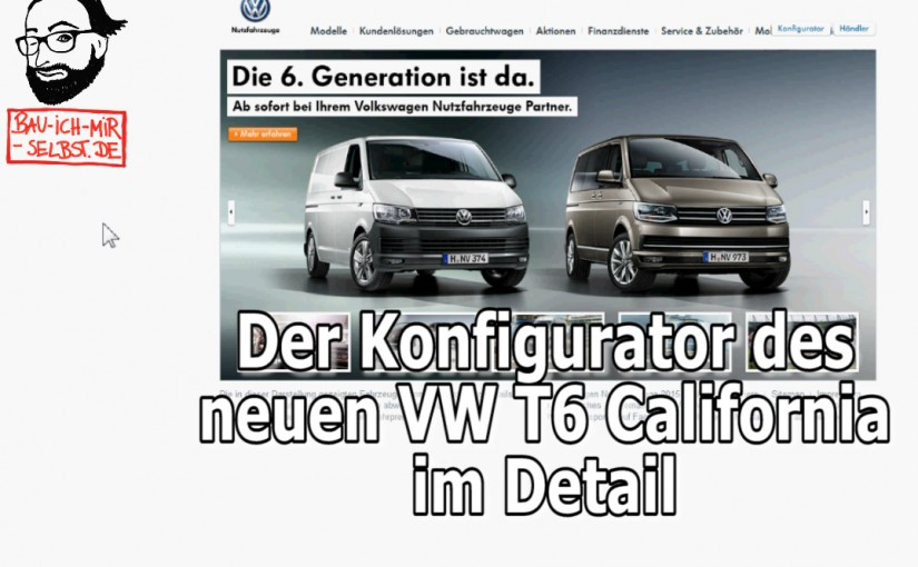 VW T6 T5.3 California Konfigurator Beach Coast Ocean