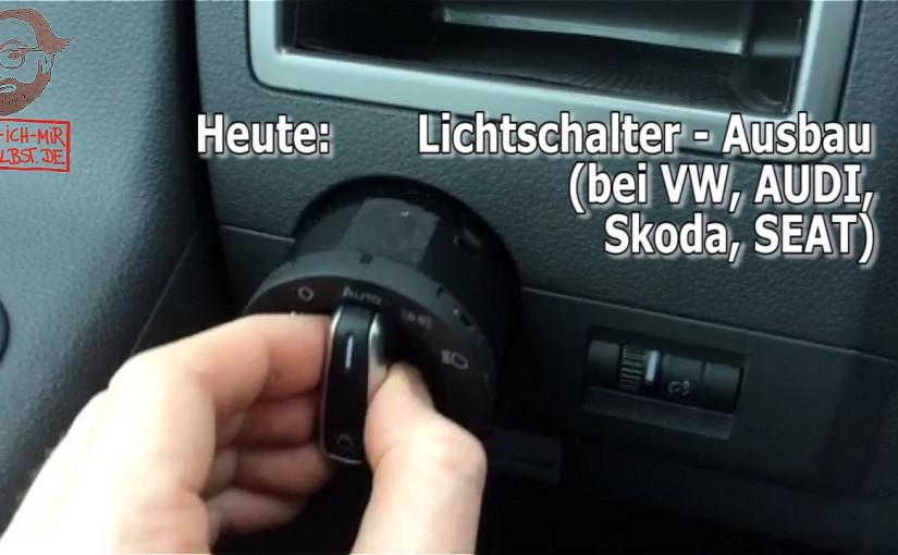 Lichtschalter Ausbau / Einbau / Wechsel bei VW, AUDI, Skoda und SEAT