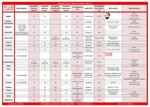 Infos Straßenverkehr Europa - Reise-Checkliste - bau-ich-mir-selbst.de