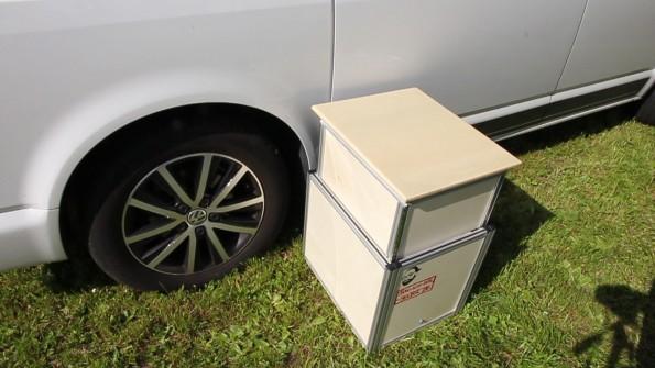 VW T5 Bus Bully Wohnmobil Waschbecken Modul Campingkueche SlideOut - Bau 100_Tisch_1