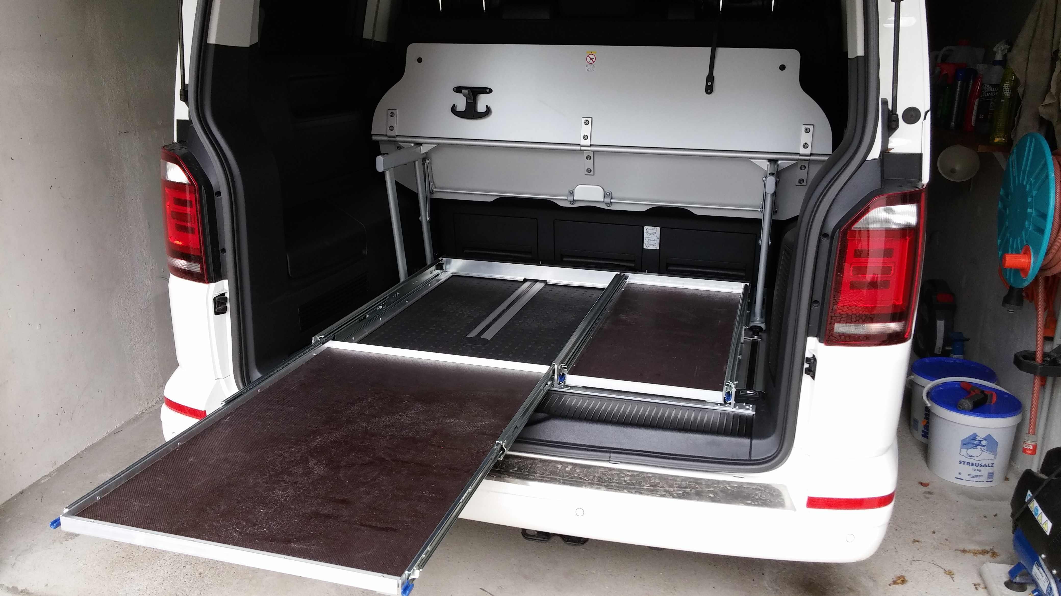 Selbstbauanregung Heckauszug für VW T5 T6 California Multivan