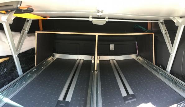 VW T5 T6 California Multivan Gepaeck Kofferraum Trennnung Heckauszug 8650