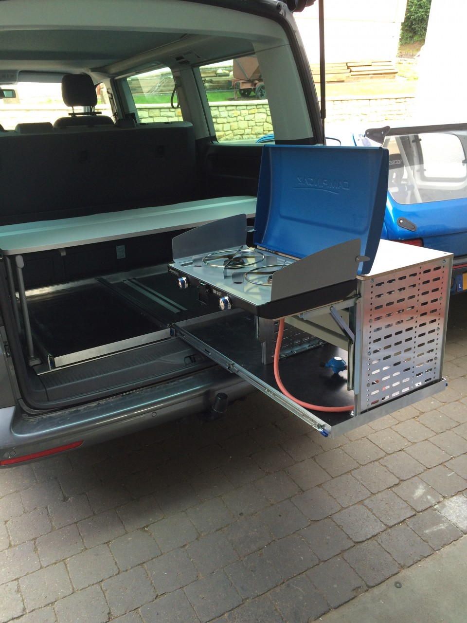 VW T5 T6 California Beach dreier Sitzbank Heckauszug 2.0