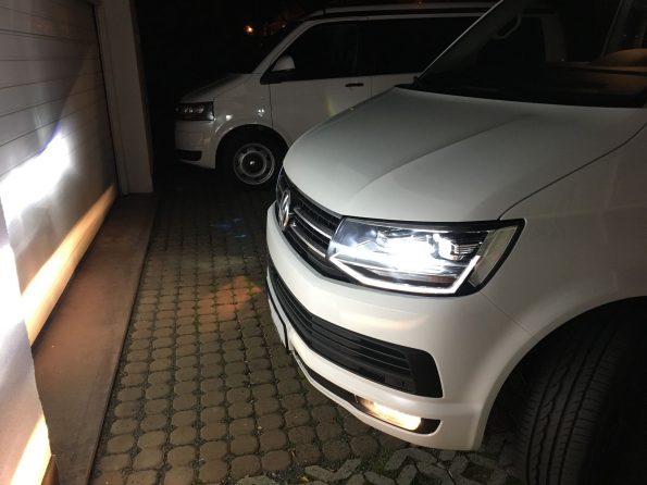 Nebel Scheinwerfer Birne VW T6 T5.3 Wechsel Optik Xenon H11 004 Philips WhiteVision Xenon-Effekt H11