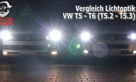 Video-Lichtvergleich VW T6 mit LED – T5.2 mit Xenon