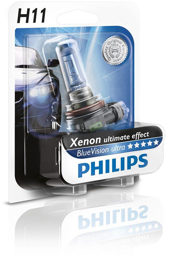 Philips 12362BVUB1 BlueVision ultra Scheinwerferlampe H11 VW T6 Nebel