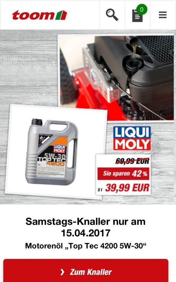 toom Baumarkt Liqui Moly Öl VW T5 Diesel TDI