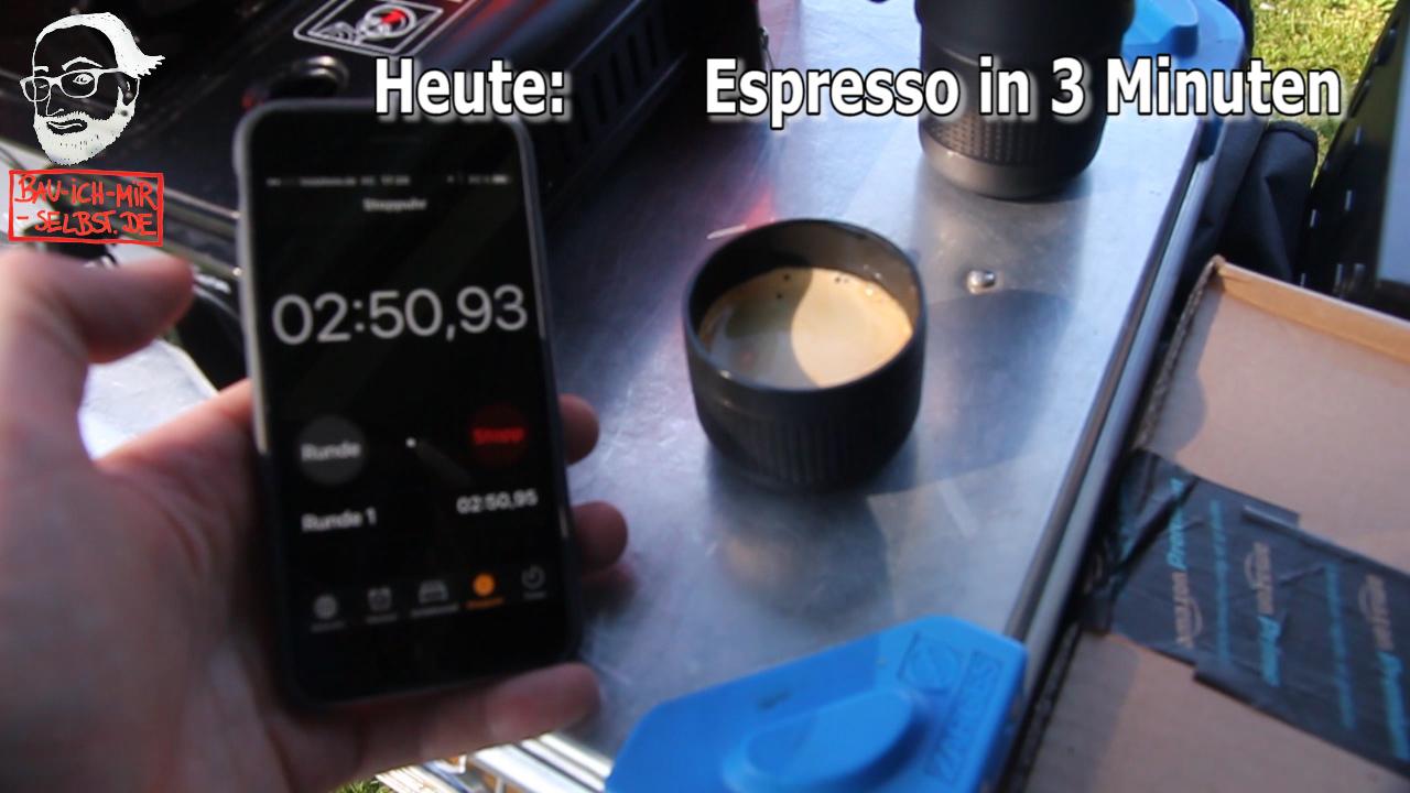 Outdoor-Espresso in unter 3 Minuten !