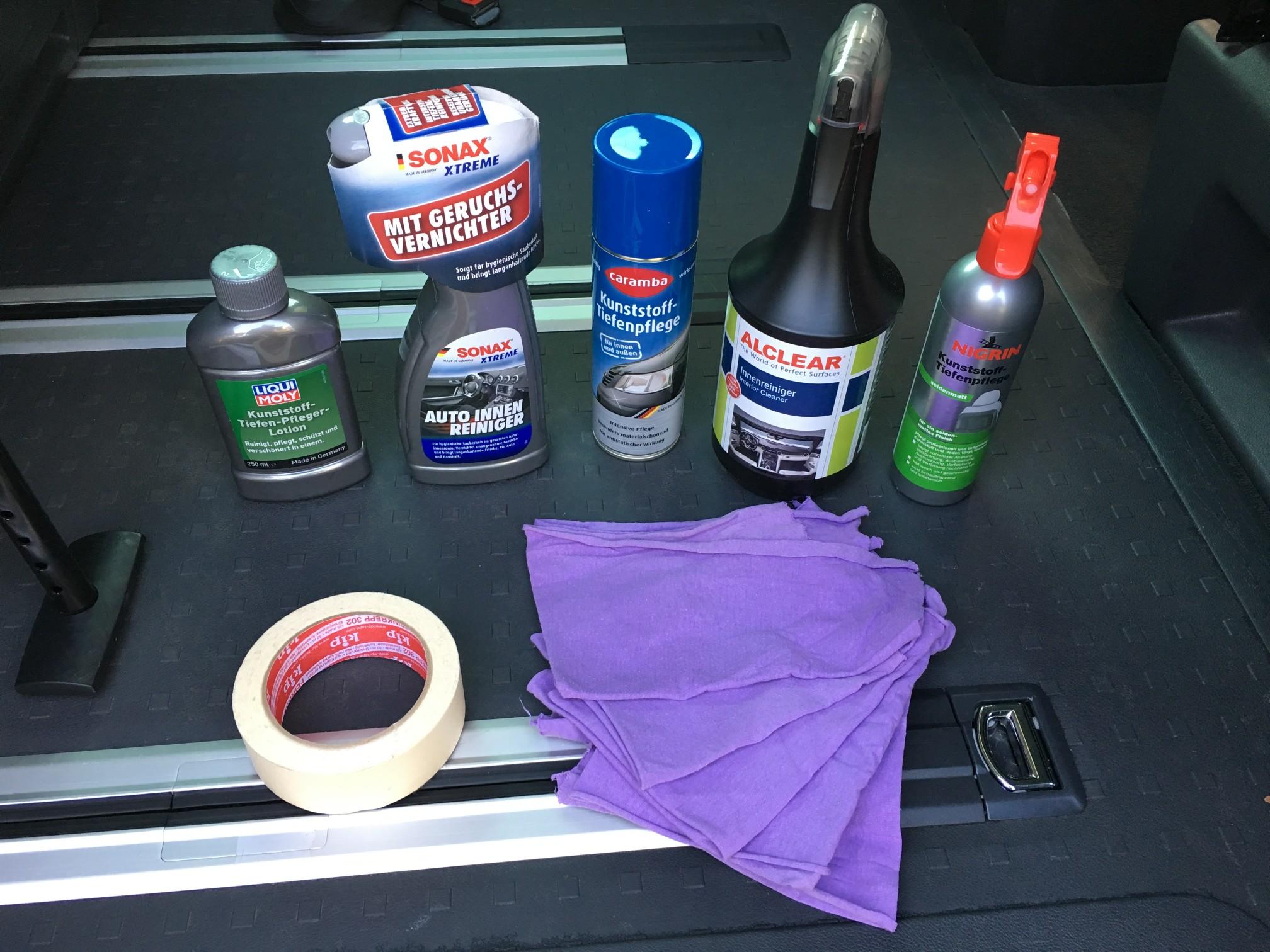 Test: Kunststoffpflegemittel für den Innenraum eures VW Californias