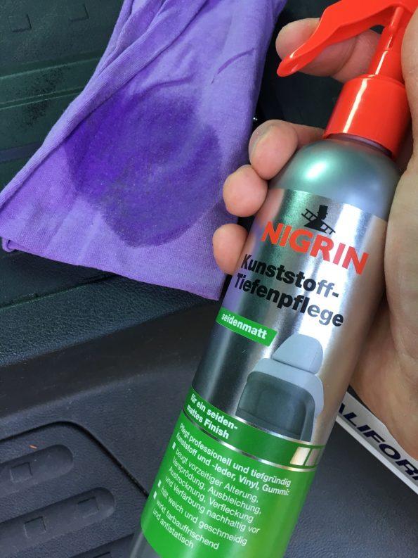 Test Kunststoff Pflege sauber putzen reinigung VW T5 T6 Bus California Multivan Camper 2659