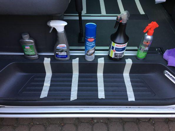 Test Kunststoff Pflege sauber putzen reinigung VW T5 T6 Bus California Multivan Camper 2660