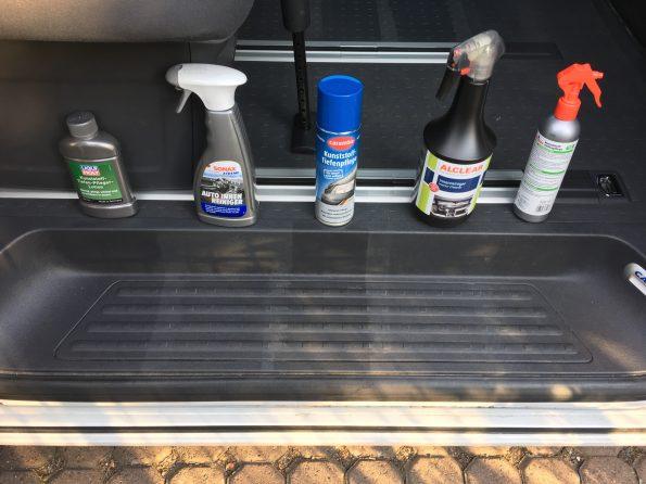 Test Kunststoff Pflege sauber putzen reinigung VW T5 T6 Bus California Multivan Camper 2682