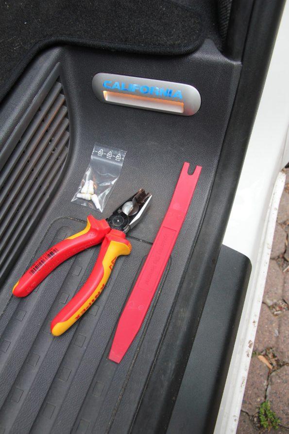 VW T5 T6 Licht Lampen Beleuchtung Stufe Tritt Einstieg LED strom sparen Tür Umbau 8132