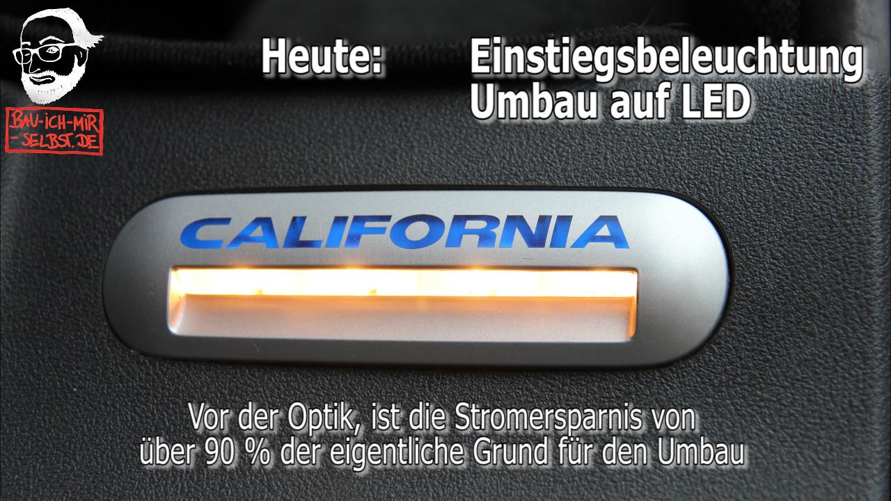 VW T5 / T6 Trittstufenbeleuchtung auf LED umbauen - Selbstbauanleitung