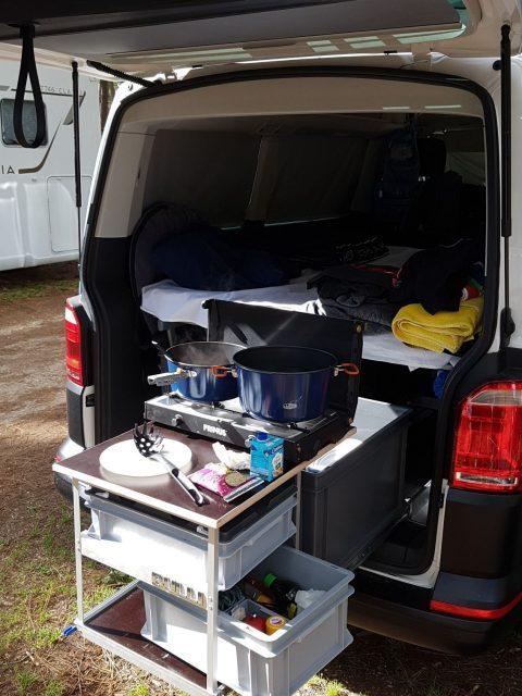 Heckauszug 2.0 nachbau selbstbau vw t5 t6 camper van camping küche 001