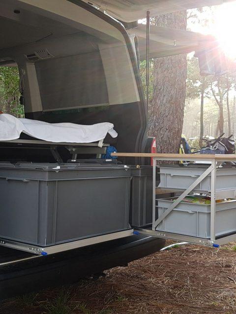 Heckauszug 2.0 nachbau selbstbau vw t5 t6 camper van camping küche 002