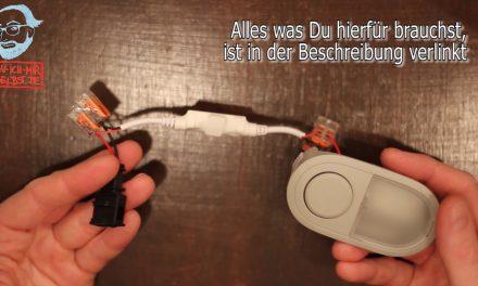 Video-Einbauanleitung: fernbedienbare LED-Dimmer an die original VW California Innenbeleuchtung