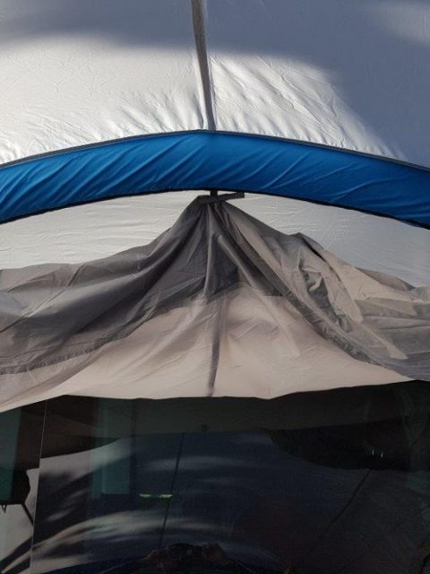 VW T5 Vorzelt Luft Pumpe Airbase Quechua Camper Van IMG_445106