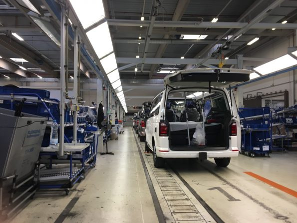VW California Fertigung Produktion Halle Linie