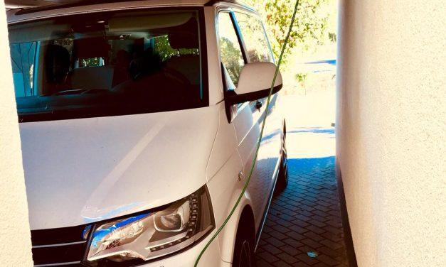 Selbstbauanregung Außenstromanschluss VW T5 California Beach