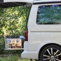 Camping Heckküche Zarges Box Werkzeug Equipment Kocher Heckauszug VW Bus California Beach T5 T6