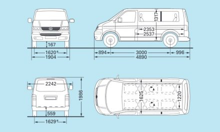 VW T5.1 Maße 2003-2009 (T5.1)